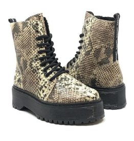 Bronx Shoes Rifka High Boot Super Chunky All White &Cappuccino