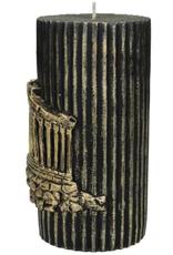 Candle Acropolis Wax Gold 15x7x7cm