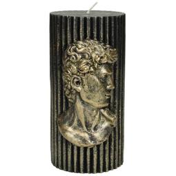 Candle David Wax Gold 15x7x7cm