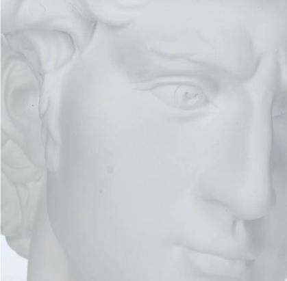 Ornament David Polyresin White 29x18x21cm