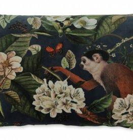 TLSierkussen Monkey Velvet 60x40cm Incl Binnenkussen