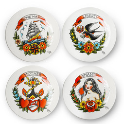 Pols Potten Pols Potten Side Plate Tattoo set van 4