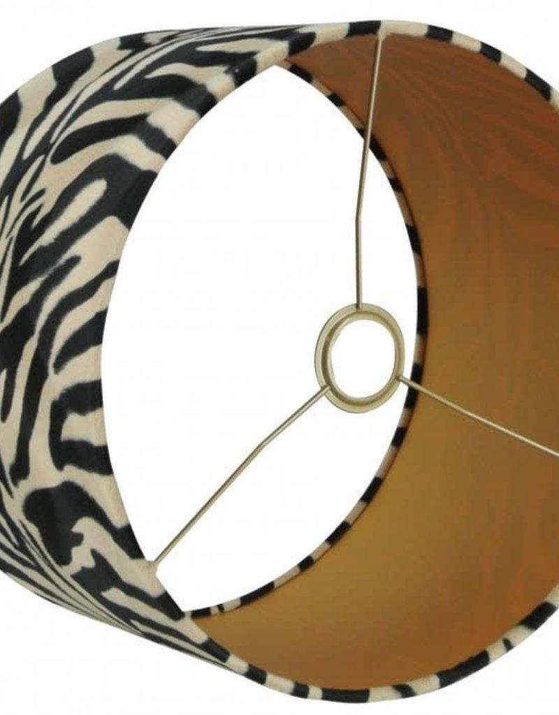 Lampenkap Cilinder  Savanna 16  35x35x25cm Zwart Taupe