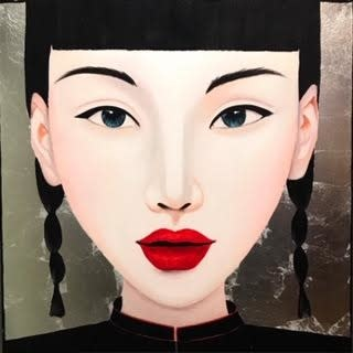 Painting Ying Multicolor Acryl op Canvas 100x100cm
