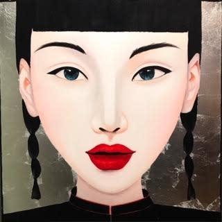 Schilderij Ying Multicolor Acryl op Canvas 100x100cm