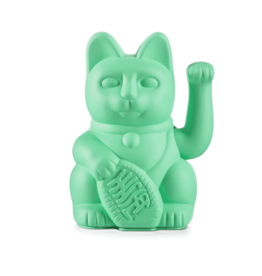 Donkey products Donkey Lucky Cat ,without battery,plastic Munt Green 10,5x8,5x15cm