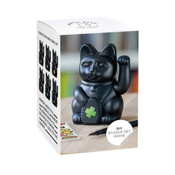 Donkey products Donkey Lucky Cat Solar,with solar panel,plastic Black 7x7x11cm