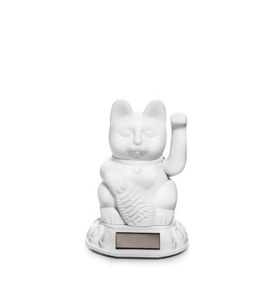 Donkey products Donkey Lucky Cat Solar,with solar panel,plastic White 7x7x11cm