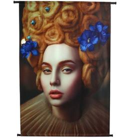 Poster Lady Collar Velvet Amber 105x136cm