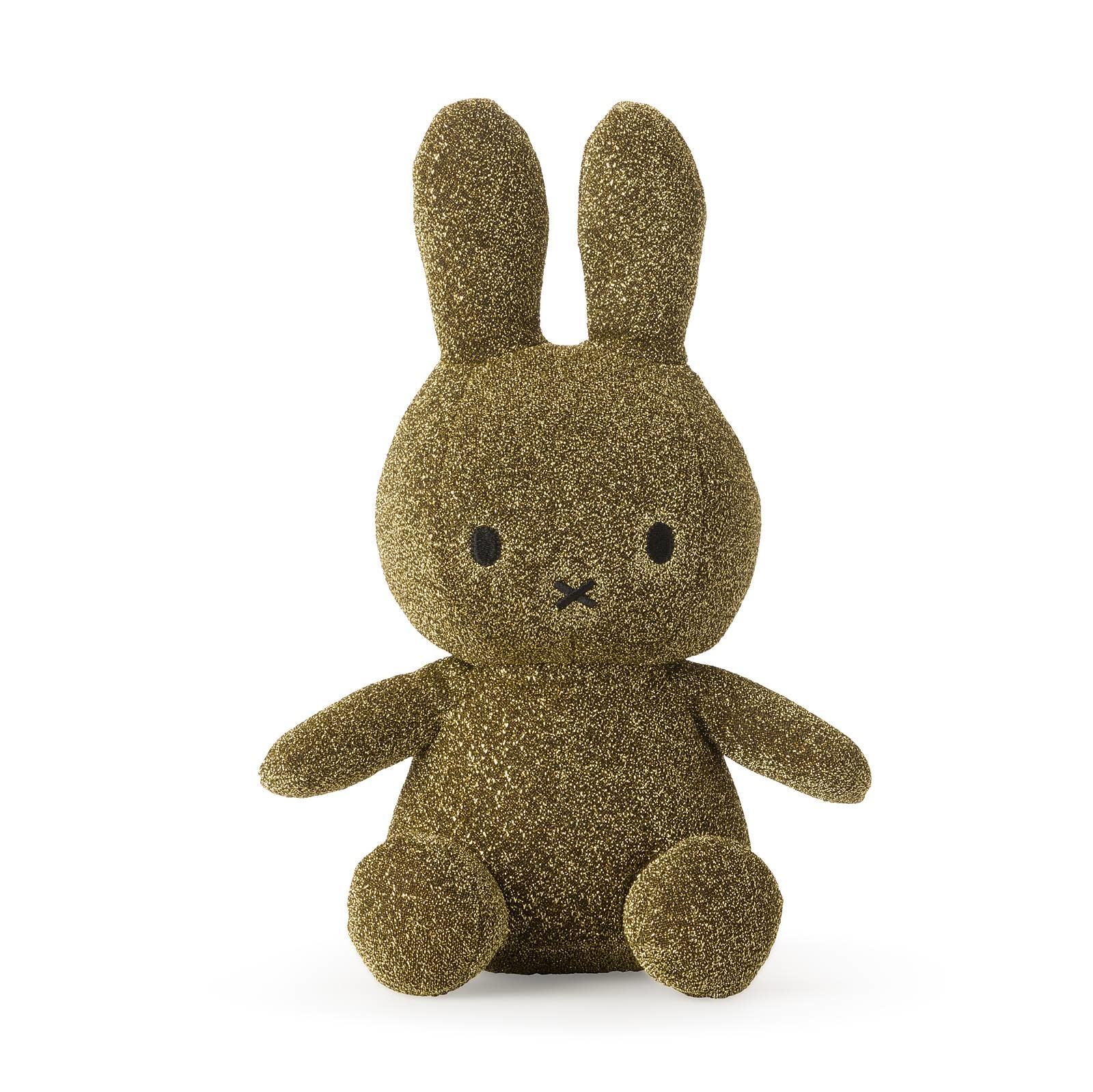 "Nijntje/Miffy/Snuffy Miffy Sitting Sparkle Gold - 23 cm - 9"" Limited Edition"