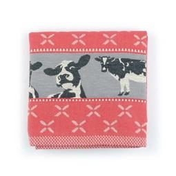 Bunzlau Castle Bunzlau Castle Kitchen Towel Cows Red