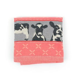 Bunzlau Castle Bunzlau Castle Tea Towel Cows Red