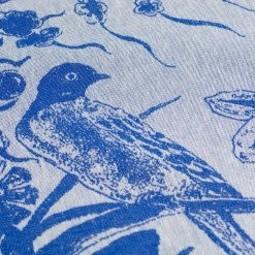 Bunzlau Castle Bunzlau Castle Tea Towel Delfts Blue Bird Royal Blue