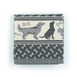 Bunzlau Castle Bunzlau  Castle Kitchen Towel Dog Black