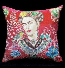 TLSierkussen Frida Velvet Fuchsia 45x45cm Incl Binnenkussen