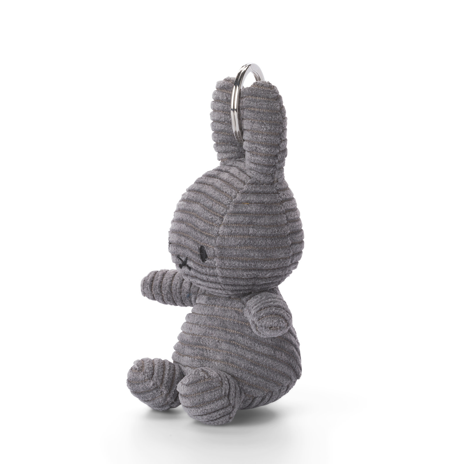 """Nijntje/Miffy Miffy Keychain Corduroy Grey - 10 cm - 4"""" 24205013"""