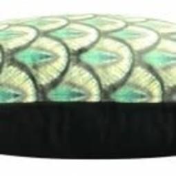 TLSierkussen Coral Velvet Green 50x50cm Incl Binnenkussen