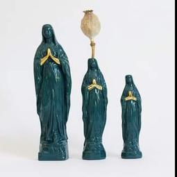 Atelier Saf Maria Beeldje M Petrol 15cm met Goudluster Handjes