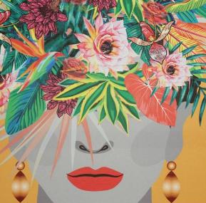 Poster in lijst Lady Multi Orange 70x3x50cm