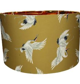 Gele Lampenkap met Kraanvogels