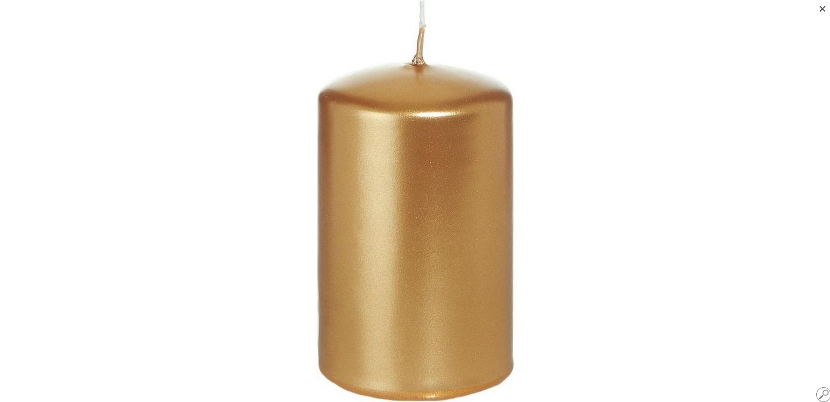 Rustik Lys Dinerkaarsen Rustik Lys Dinerkaarsen Goud 6x10cm