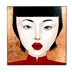 Painting  Chen Lu Multicolor Acryl op Canvas 100x100cm