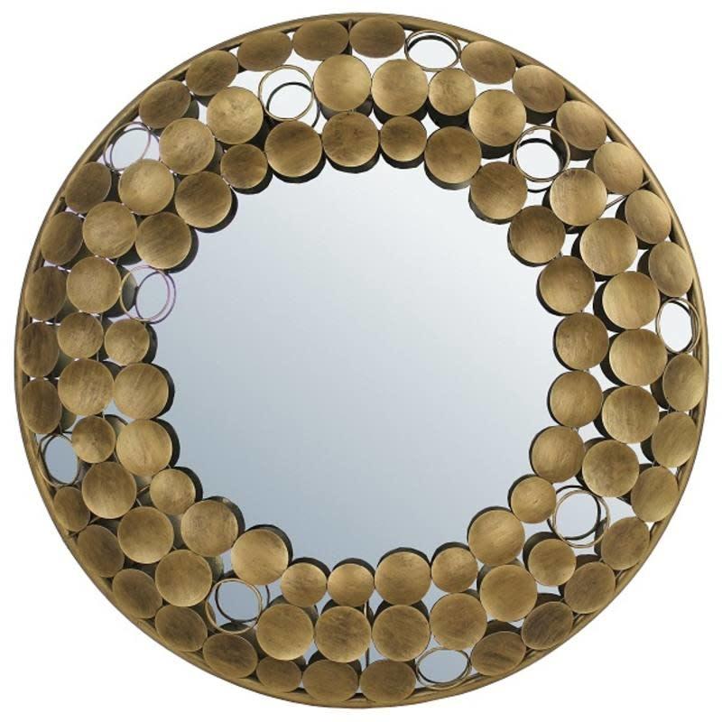 Mirror Luxery Metal Gold 70x6x70cm