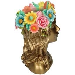 Vase Gold  Lady Flowers A 24x15x17cm