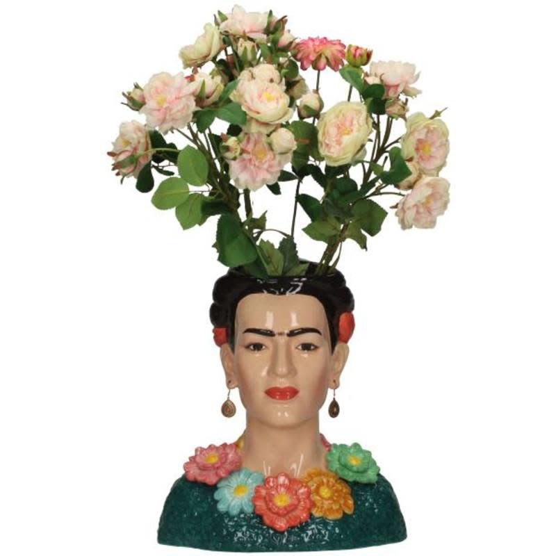 Vase Lady Flowers A Multi 34x19x29cm