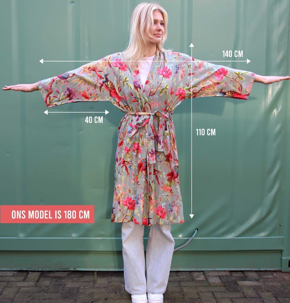 Imbarro Home & Fashion Imbarro Kimono Paradise Petrol Onesize
