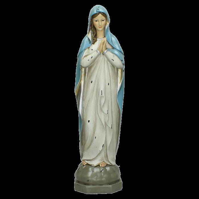 Blauw Beeldje Maria S 10,5x9,3x36cm
