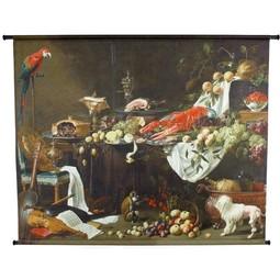 Poster Velours Stilleven op Tafel 146x110cm
