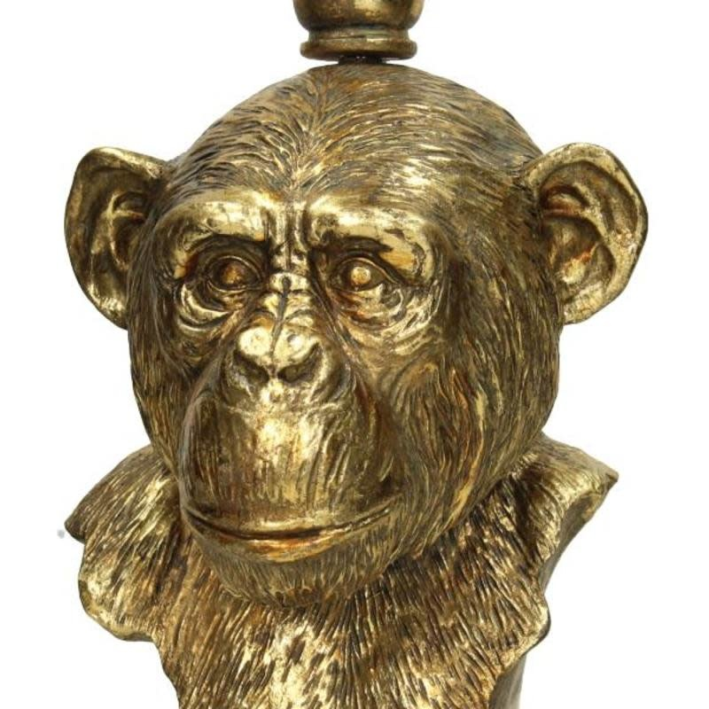 Kandelaar Monkey Goud 18x18x49cm