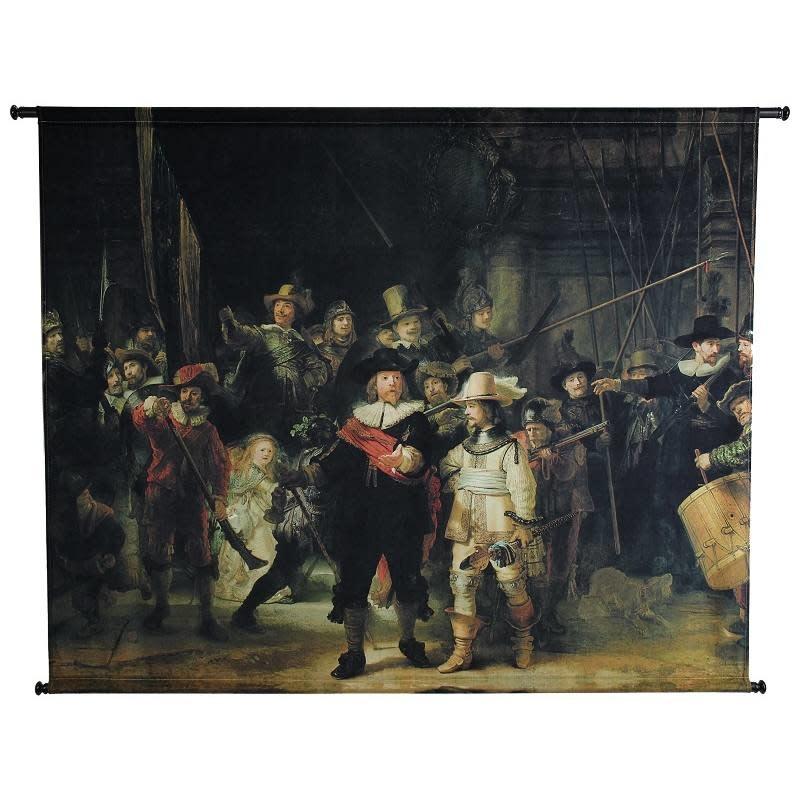 Poster De Nachtwacht Velours Multicolor 146x110cm