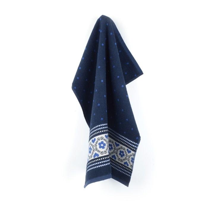 Bunzlau Castle Bunzlau Castle Kitchen Towel Blossom Dark Blue