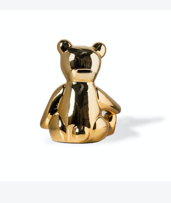 Pols Potten Pols Potten Spaarpot Teddy gold L20 x B20 x H25 cm
