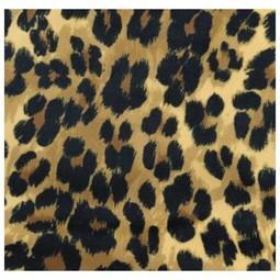 Pouf Leopard Brown Velvet 15x52x52cm