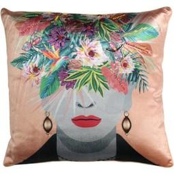 Cushion Fruit Head Multi Apri 45x45cm Incl.Binnenkussen