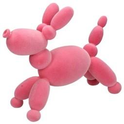 Ornament Balloon Dog Pink 25x12x32cm