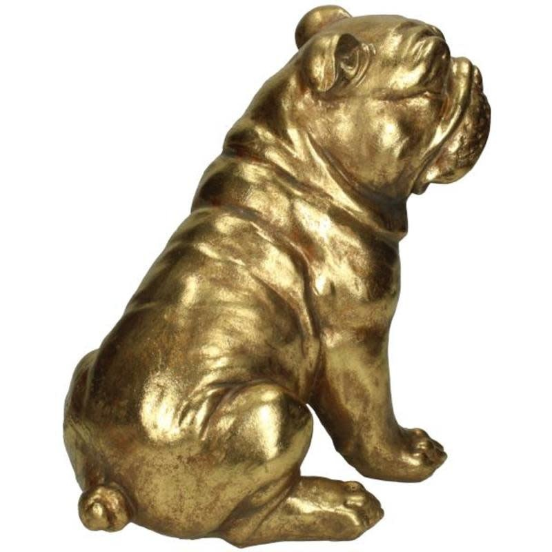 Ornament Dog Gold 26x17x23cm