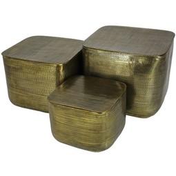 Tafel Set van 3 Gold 43x51x51cm Metal