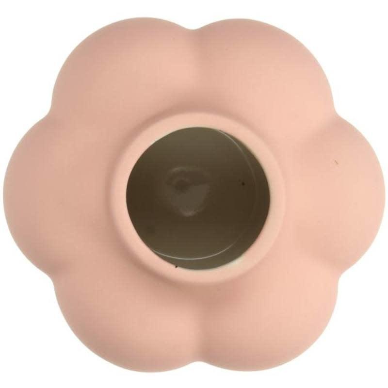 Vase Fine Earthenware Pink 13x11x12cm