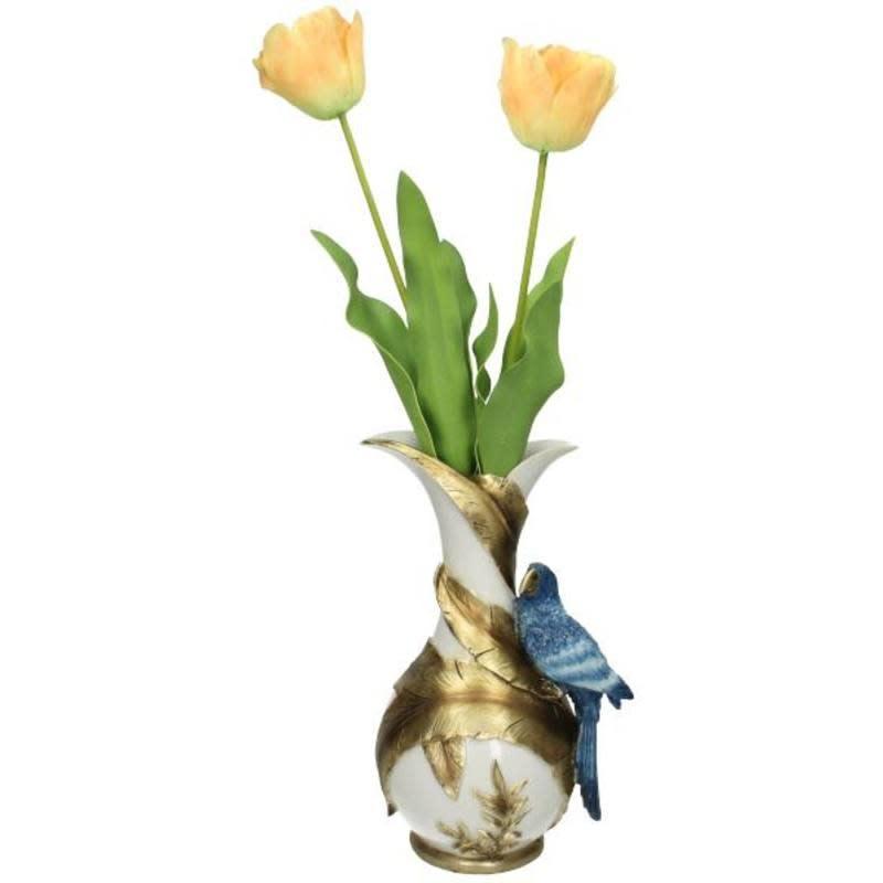 Vase Bird Polyresin Blue20x16,5x31,5cm