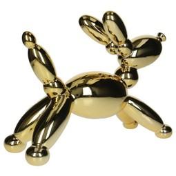 Ornament Balloon dog  Fine Earthenware Gold 32,5x13x24,5cm