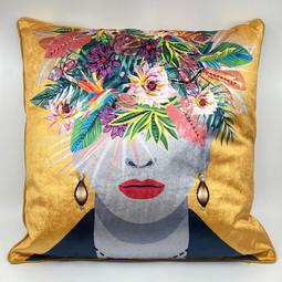 Cushion Flower Head Multicolor   45x45cm  Incl.Binnenkusse