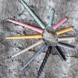 Branded By Swirl Kaars Natur set/2  25cm