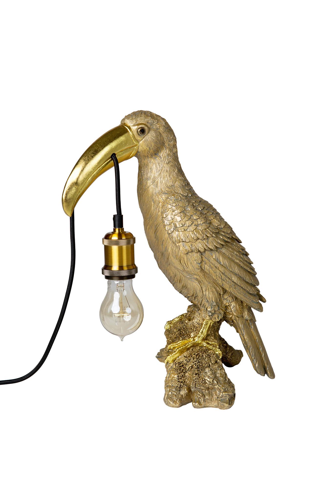 Vloerlamp Toekan Goud H40xB20xD23cm