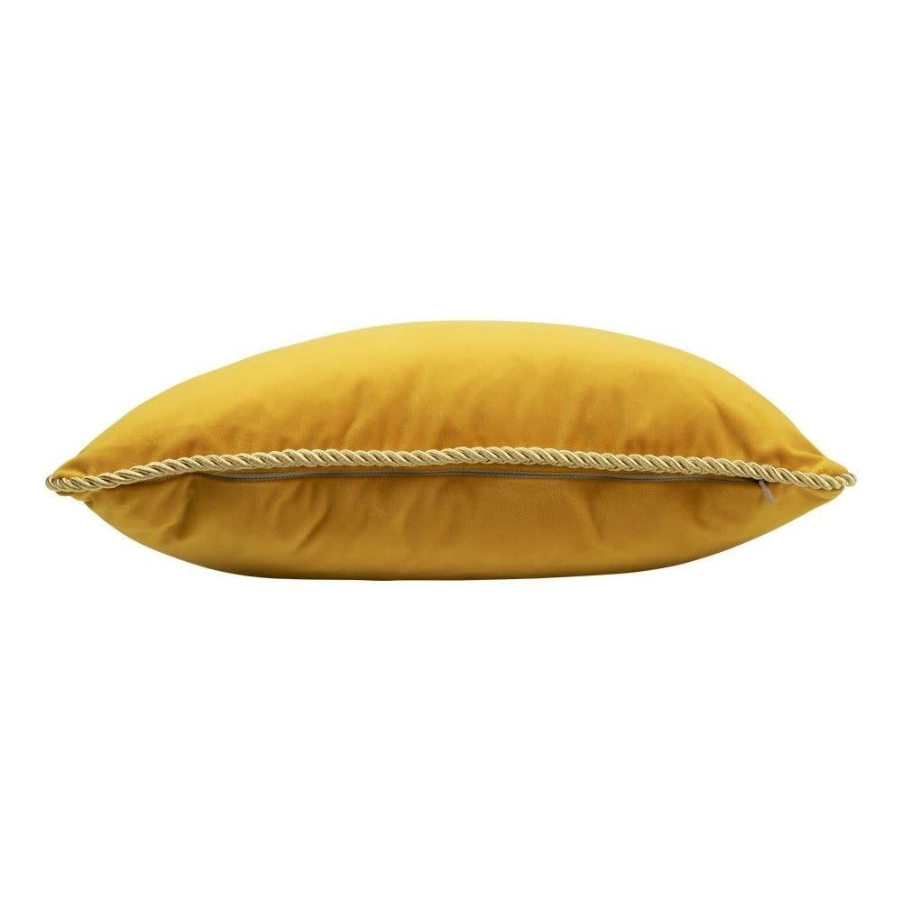 Mars Kussen Fluweel Goud Honing 45x45cm Incl.Binnenkussen