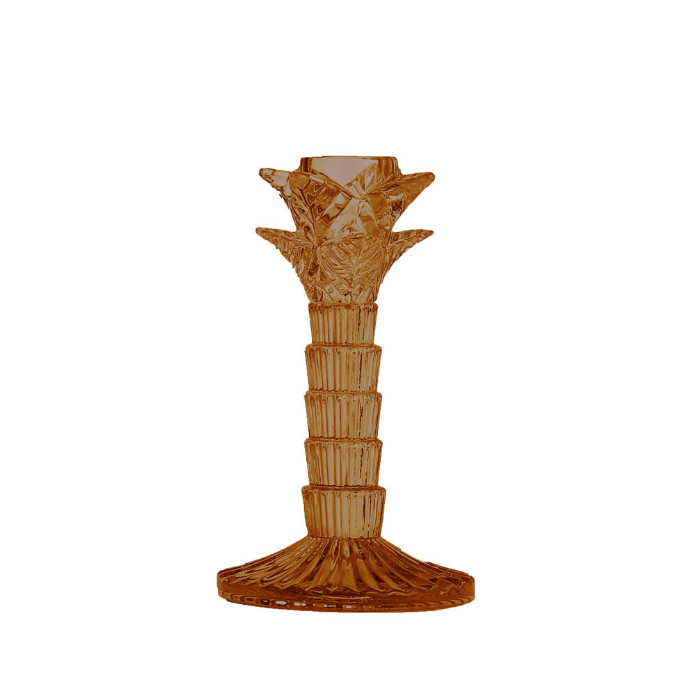 Mars Kandelaar Palmboom Goud Bruin 16cm