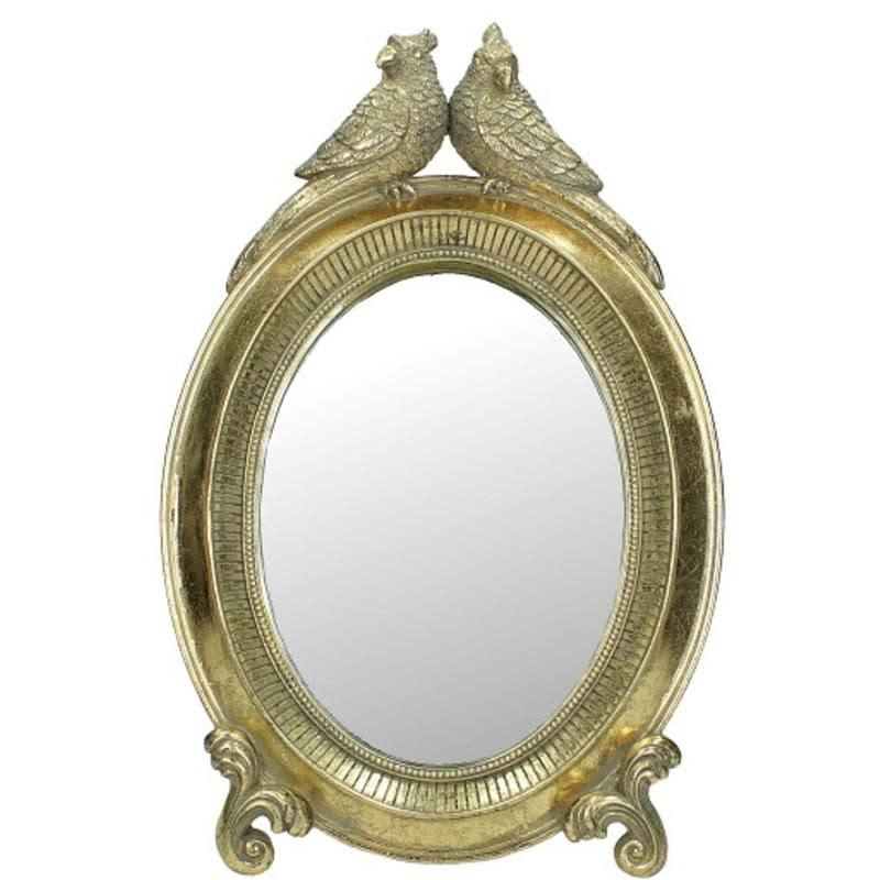 Spiegel met twee Vogels Goud  33x4x21cm